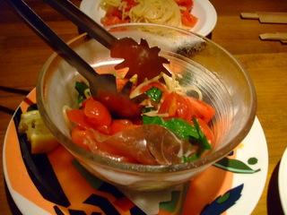 フルーツトマトの冷製スパゲッティ