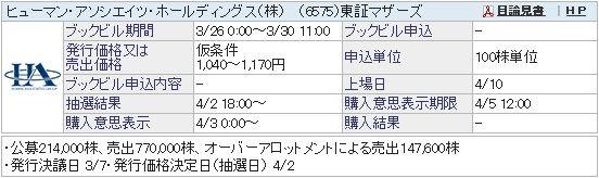 IPO-19-6575-仮 ヒューマン・アソシエイツ・ホールディングス