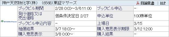 【IPO】神戸天然物化学[6568]抽選結果/ズボラ主婦なりに出来ることをやる。