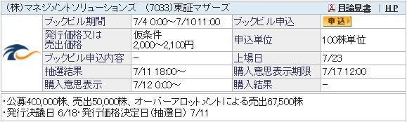 IPO-42-7033-仮 マネジメントソリューションズ