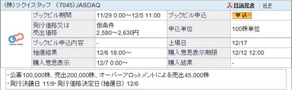 IPO-81-7045-仮 ツクイスタッフ