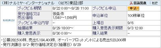 IPO-52-9275-仮 ナルミヤ・インターナショナル