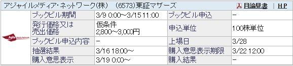 【IPO】アジャイルメディア・ネットワーク[6573]&和心[9271]抽選結果/脱・ズボラ?こまめにBB申込継続中!