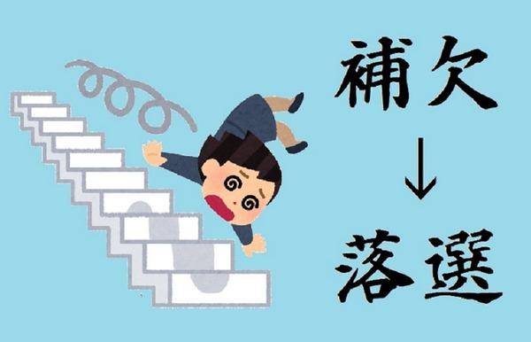 2補欠→落選