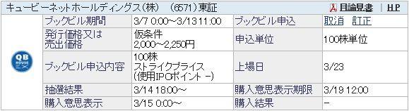 IPO-11-6571-仮 キュービーネットホールディングス