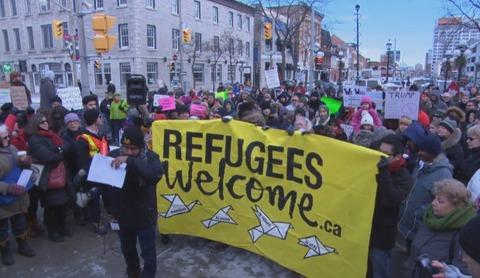Refugees Demo Ottawa