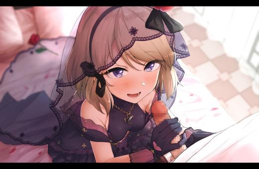 【二次エロ】女の子の手でオチンポを刺激されて射精してしまっている手コキ画像
