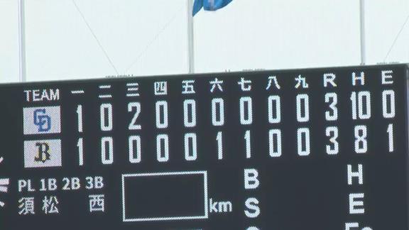 7月19日(日) ファーム公式戦「オリックスvs.中日」【試合結果、打席結果】 中日2軍、3-3の引き分け