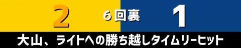 9月1日(水) セ・リーグ公式戦「阪神vs.中日」【試合結果、打席結果】 中日、1-2で敗戦… 1点を先制するも試合中盤に逆転を許す…