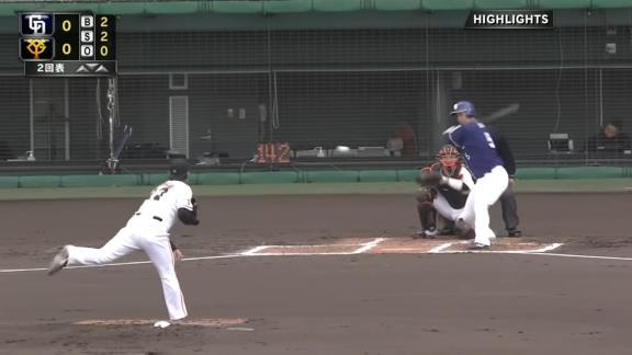 中日・阿部寿樹、今季初実戦で見せた流石のパワー! 逆方向へのフェンス直撃ツーベースヒット!「めちゃくちゃ緊張した」【動画】