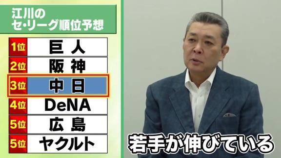 江川卓さん「中日の打撃、これは非常に期待できますね」【動画】