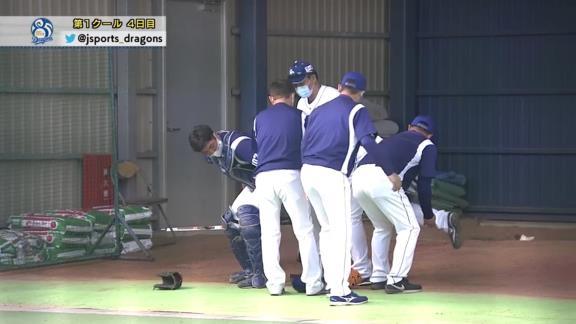 【球団発表】中日・濱田達郎、『右足関節捻挫』と診断…