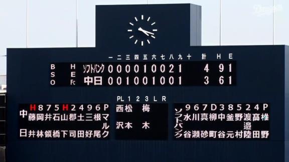 中日・石岡諒太、ライトへのタイムリースリーベースヒットを放つ!!!【動画】
