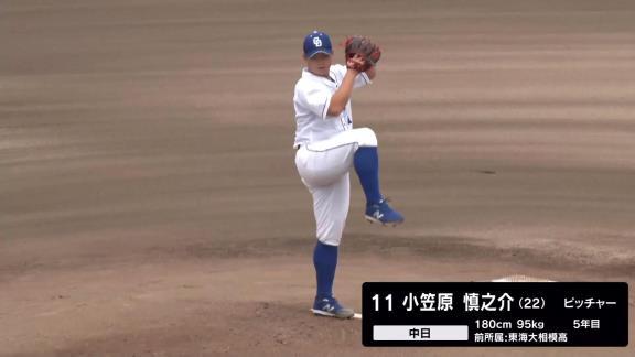 中日・小笠原慎之介、ファームで7回途中3失点の粘投!「修正してやっていきたいと思います」【投球結果】