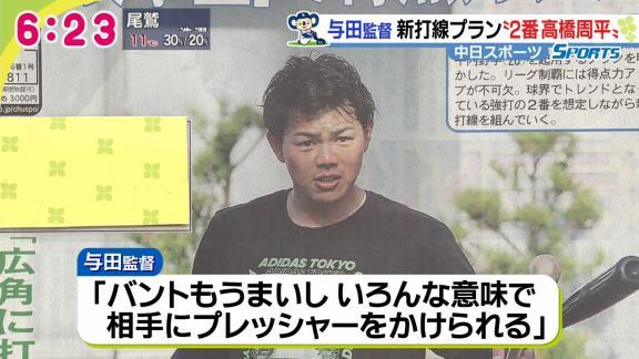 中日、2021年シーズン打線は『2番・高橋周平』!? 与田監督「出塁する ...