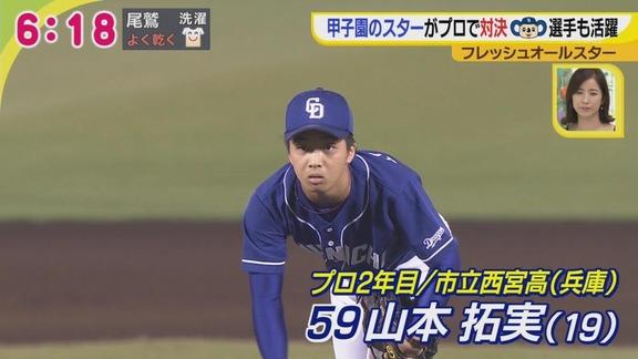中日・山本拓実、最速148km/h全球ストレート勝負で1回無失点