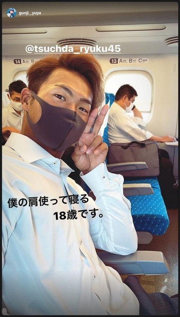 中日・郡司裕也捕手「僕の肩使って寝る18歳です。」