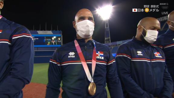 元中日のラウル・バルデス投手(43歳)、東京オリンピック銅メダルを獲得しニッコリ