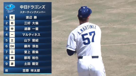 中日・A.マルティネス、打率.800! ファーム今季初出場から2試合連続で2安打マルチヒットの活躍を見せる!