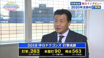 2020年シーズンは中日・阿部寿樹が『4番』も!? 与田監督「4番を目指せ」