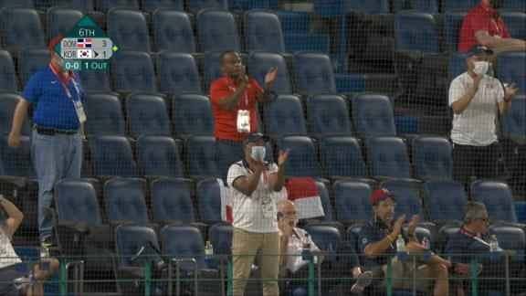 元中日のラウル・バルデス投手(43歳)、東京オリンピック韓国戦で6回途中1失点の好投を見せる!!! 大ベテランとは思えない華麗な守備も披露!