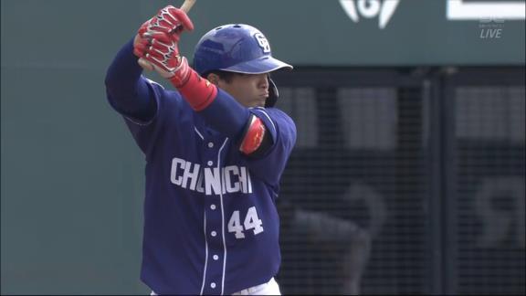 中日・郡司裕也、打った瞬間それと分かるホームラン!!! 4番キャッチャーとして出場し、2安打1本塁打4出塁の大暴れ!!!【ここまでの全打席結果】