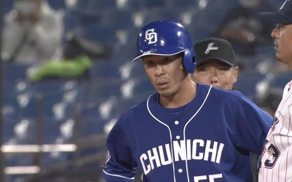 中日・福田永将、1試合で打率を上げまくる