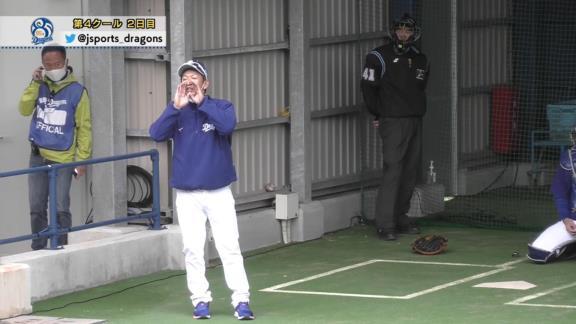 中日・又吉克樹投手「打席に立ってもらえませんか」 立浪和義臨時コーチ「え、俺が立つの!?」