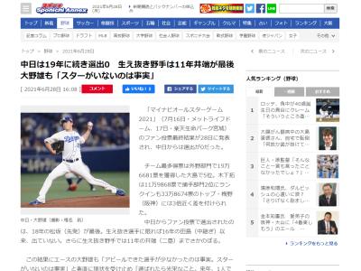 中日・大野雄大投手「(中日に)スターがいないのは事実」