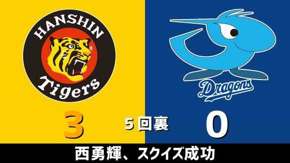 7月18日(土) セ・リーグ公式戦「阪神vs.中日」 スコア速報