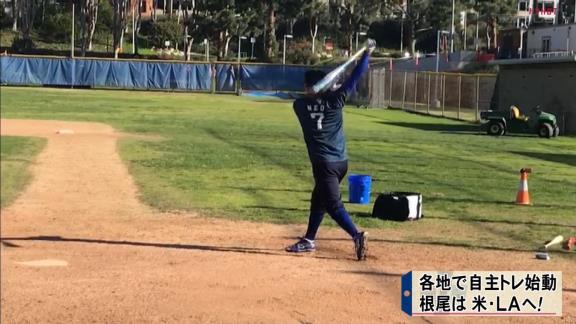 1月18日放送 ドラHOTプラス 中日・根尾昂選手の米ロサンゼルス自主トレに密着!