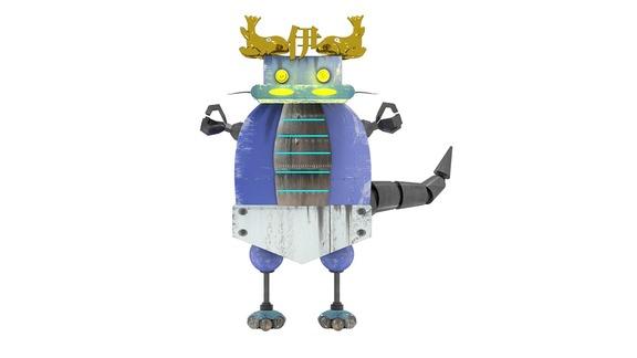 ロッテの交流戦挑発ポスターに登場した中日ロボット