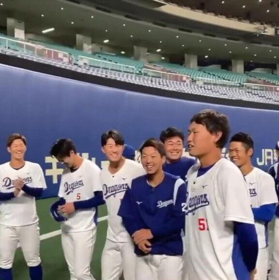 中日・滝野要選手、挨拶するだけで選手みんなを笑顔にする【動画】