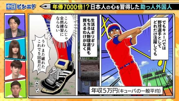 中日・ビシエド、『スポーツ漫画みてぇな話』で漫画化される!!!「ドラゴンズで野球人生を終えたい」【動画】