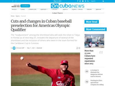 WBSCがキューバ代表候補32人を発表する【候補選手一覧】