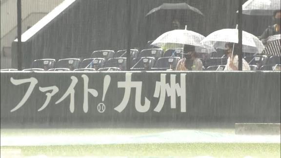 8月7日(土) ファーム公式戦「ソフトバンクvs.中日」【試合結果、打席結果】 中日2軍、0-3で敗戦… 6回裏途中で降雨コールドとなる…