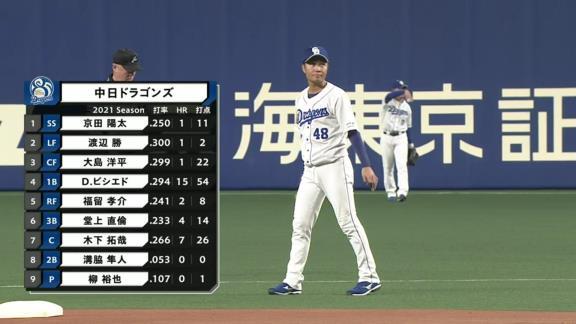 中日・与田監督「溝脇、今年初めてあんな良い当たりが打ててよかったなぁ」