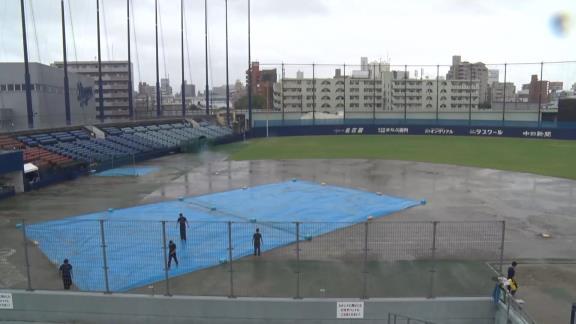 7月26日(日) ファーム練習試合「中日 vs. Honda鈴鹿」【試合結果、打席結果】 2回終了時点で降雨ノーゲームに…