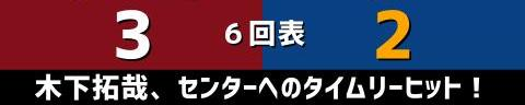 6月8日(火) セ・パ交流戦「楽天vs.中日」【試合結果、打席結果】 中日、2-5で敗戦… 一発で先制するも逆転され、終盤に突き放される…