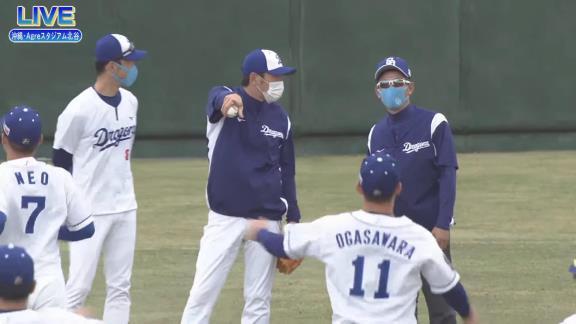 中日・立浪和義臨時コーチ、ドラゴンズブルーに染まる!