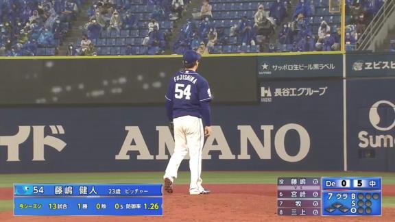 中日・又吉克樹広報、好リリーフを見せた藤嶋健人投手と1軍初昇格の近藤廉投手の写真を投稿する!