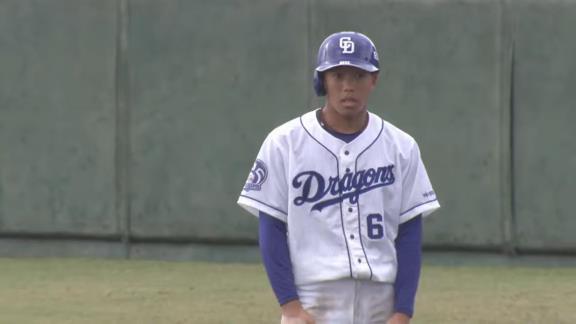 中日・岡林勇希、鮮やかセンター返し!2安打3出塁の活躍で猛アピール! 与田監督「レベルアップしている」【全打席結果】