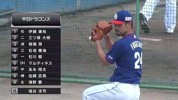 中日・福谷浩司、復帰登板は2回2奪三振パーフェクトピッチング! 最速は147km/h【全投球】