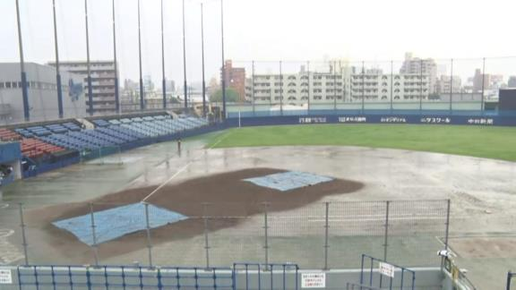 5月20日(木) ファーム公式戦「中日vs.オリックス」【試合結果、打席結果】 中日2軍、2-5でビハインド展開になるも試合成立前に降雨ノーゲームに