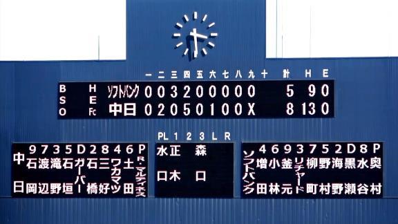 6月29日(火) ファーム公式戦「中日vs.ソフトバンク」【試合結果、打席結果】 中日2軍、8-5で勝利! 一度は逆転を許すも怒涛の連打で大逆転!!!