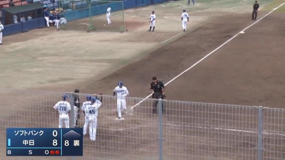 中日・大野奨太、ファームで今季第1号となる満塁ホームランを放つ!!! 中日2軍打線は一挙8得点の猛攻に!【動画】