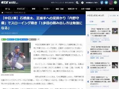 『サード』での出場が続く中日・石橋康太捕手、その意図とは…?
