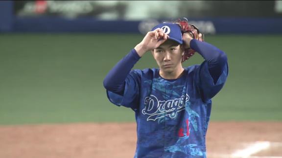 中日・勝野昌慶、8回途中無失点の好投で今季3勝目!「木下さんのリードと好守に助けられました」 与田監督「完投完封も近いうちにあるかもしれないですね」【投球結果】