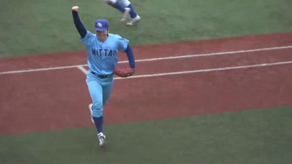 中日ドラフト2位・森博人投手、『日本体育大学 送別試合』に登板! 4年生チームとして登板し、2奪三振の力強いピッチングを見せる!【動画】