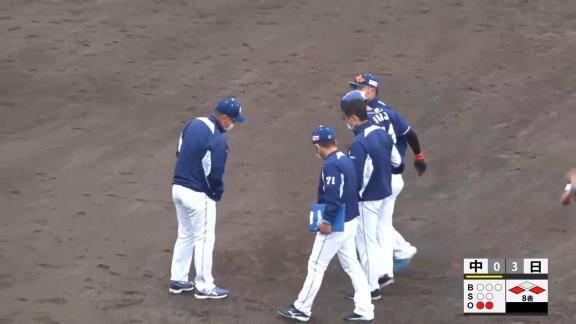 中日・郡司裕也捕手、みやざきフェニックス・リーグ初日に死球で負傷交代… 現在はスタメンを外れ、野手が足りない中日はDH無しで試合を行う…